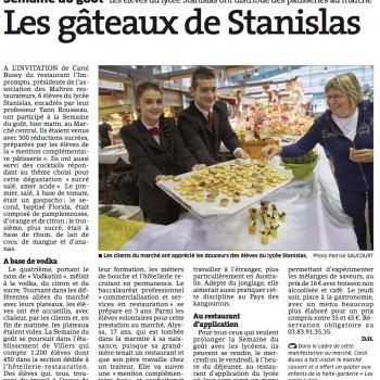 Les gâteaux de Stanislas
